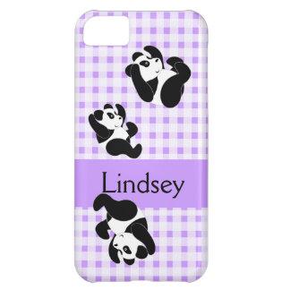 Modelo del oso de panda funda para iPhone 5C
