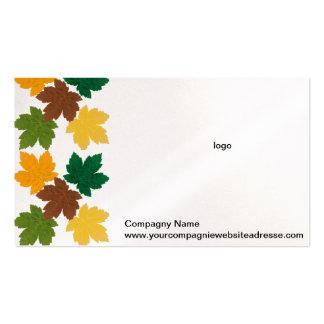 modelo del otoño tarjetas de visita