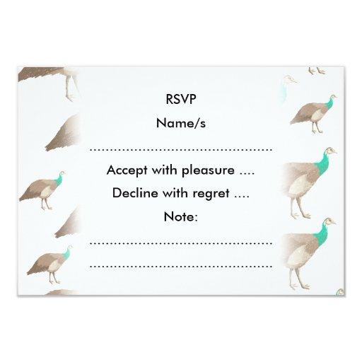 Modelo del pájaro en blanco invitación 8,9 x 12,7 cm