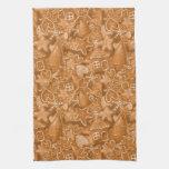 Modelo del pan de jengibre del navidad toalla de mano