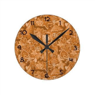 Modelo del pan de jengibre del navidad relojes