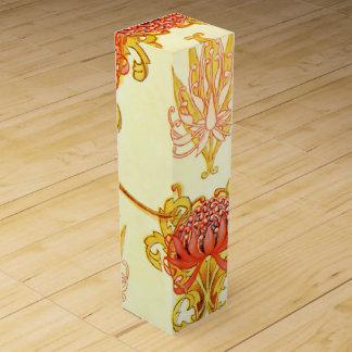 Modelo del papel de empapelar de Waratah Cajas Para Vino