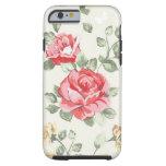 Modelo del papel pintado de la elegancia de rosas funda para iPhone 6 tough