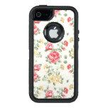 Modelo del papel pintado de la elegancia de rosas funda otterbox para iPhone 5/5s/SE