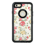 Modelo del papel pintado de la elegancia de rosas funda otterbox para iPhone 6/6s plus