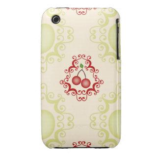 Modelo del papel pintado de las cerezas de la cere Case-Mate iPhone 3 cobertura
