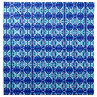 Modelo del papel pintado del art déco - azul y servilletas de papel