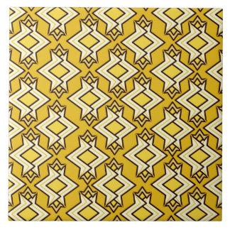 Modelo del papel pintado del art déco, oro de la azulejo cuadrado grande