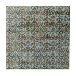 Modelo del papel pintado del damasco de la aguamar azulejo cuadrado pequeño