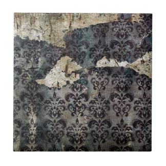 Modelo del papel pintado del damasco de la peladur azulejo cuadrado pequeño