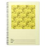 Modelo del papel pintado del rosa amarillo libreta