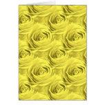 Modelo del papel pintado del rosa amarillo tarjeta de felicitación