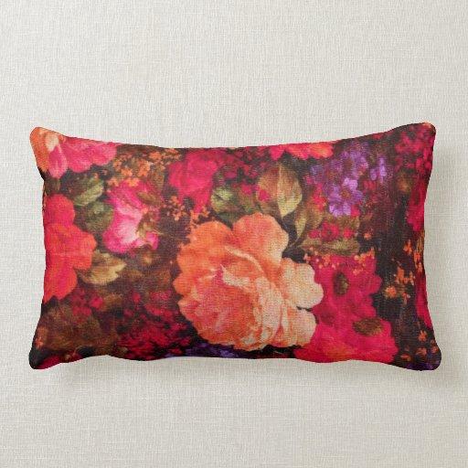 Modelo del papel pintado floral del vintage cojines