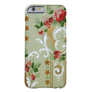 Modelo del papel pintado floral del vintage, funda de iPhone 6 barely there