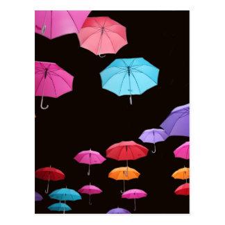 Modelo del parasol de la sombrilla del día postal