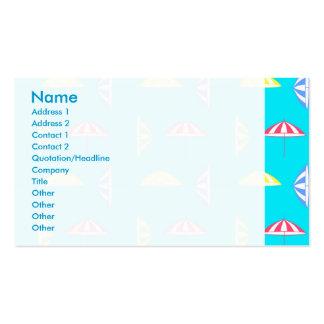 Modelo del parasol tarjetas de visita