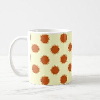 Modelo del pastel de calabaza tazas de café