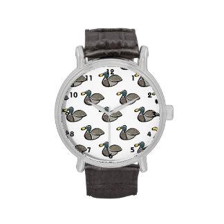 Modelo del pato del pato silvestre reloj