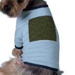 Modelo del pavo real ropa de mascota