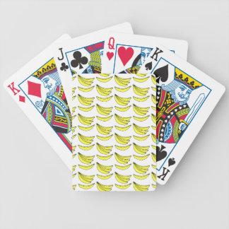 Modelo del plátano cartas de juego