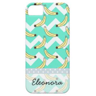 Modelo del plátano del zigzag de Chevron de la iPhone 5 Case-Mate Protector