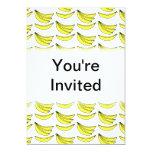 Modelo del plátano invitacion personalizada