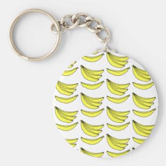 Modelo del plátano llavero redondo tipo pin