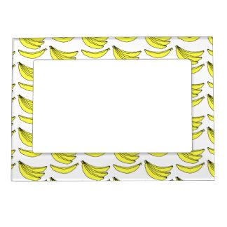 Modelo del plátano marcos magnéticos para fotos
