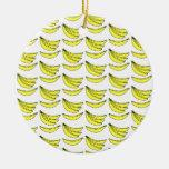 Modelo del plátano ornamentos de navidad