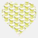 Modelo del plátano pegatina de corazon