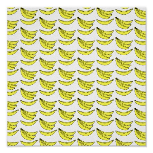 Modelo del plátano poster