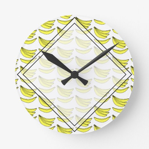 Modelo del plátano relojes de pared