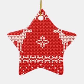 Modelo del punto del puente de los renos del adorno navideño de cerámica en forma de estrella