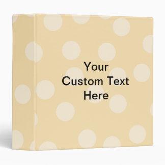 """Modelo del punto y texto marrones claros, beige carpeta 1 1/2"""""""