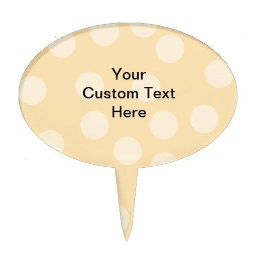 Modelo del punto y texto marrones claros, beige de figura de tarta