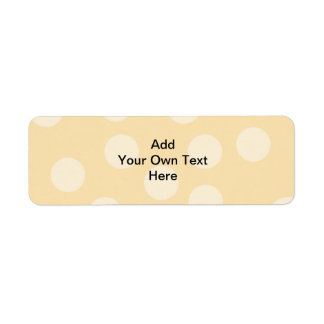 Modelo del punto y texto marrones claros, beige etiqueta de remitente