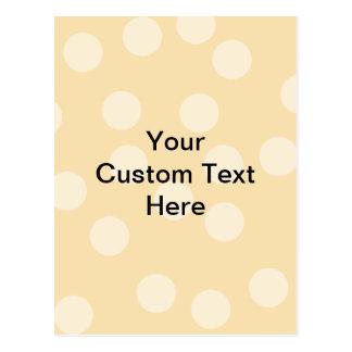 Modelo del punto y texto marrones claros, beige postal