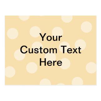 Modelo del punto y texto marrones claros, beige postales