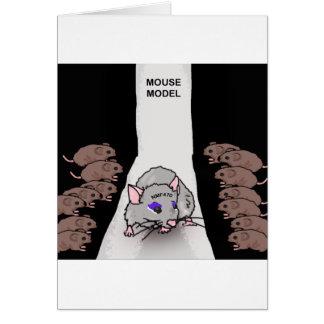Modelo del ratón tarjeta de felicitación