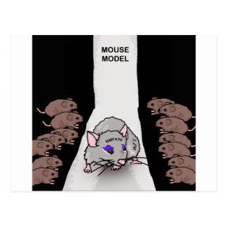 Modelo del ratón tarjetas postales