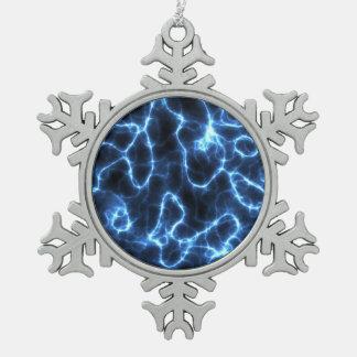 Modelo del relámpago adorno de peltre en forma de copo de nieve