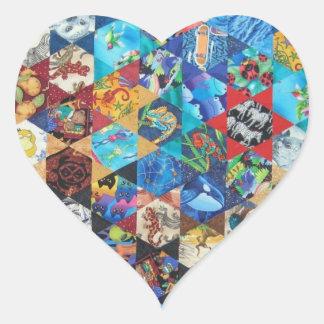 Modelo del remiendo de los arte pop pegatinas corazon personalizadas