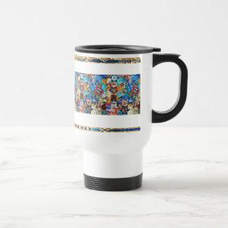 Modelo del remiendo de los arte pop taza térmica