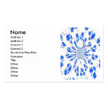 Modelo del remolino de pequeñas flores azules y bl tarjeta de negocio