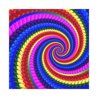 Modelo del remolino del arte del fractal del arco  impresiones en lona estiradas