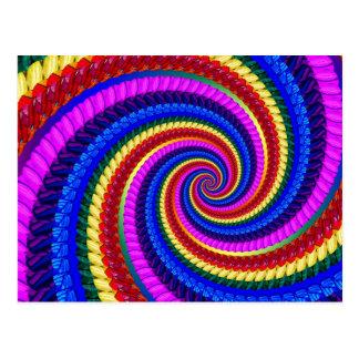 Modelo del remolino del arte del fractal del arco  tarjeta postal