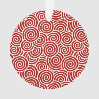 Modelo del remolino del japonés - de color rojo