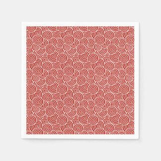 Modelo del remolino del japonés - de color rojo servilleta de papel