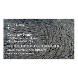 Modelo del remolino en superficie rocosa oscura tarjetas de visita