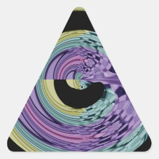modelo del remolino pegatina triangular